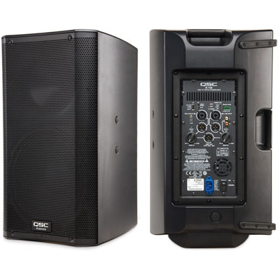 "Amplified QSC 12"" PA Speaker - Just A/V"