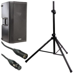 Amplified QSC PA Speaker with stand - Just A/V