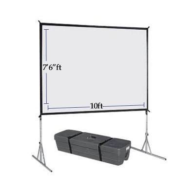 "7'-6""'x10' Projection Screen Rental - Just A/V"